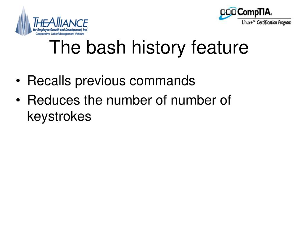 The bash history feature