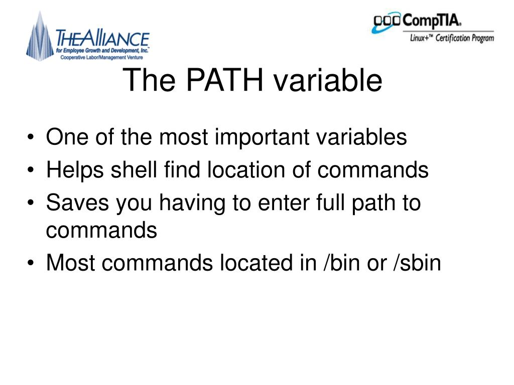The PATH variable