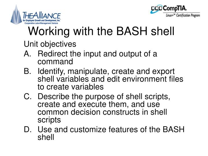 Working with the bash shell l.jpg