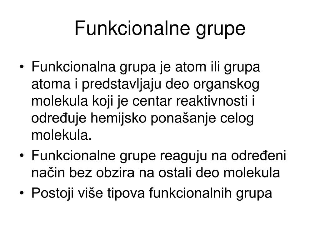 Funkcionalne grupe
