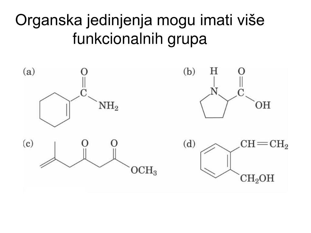 Organska jedinjenja mogu imati više funkcionalnih grupa