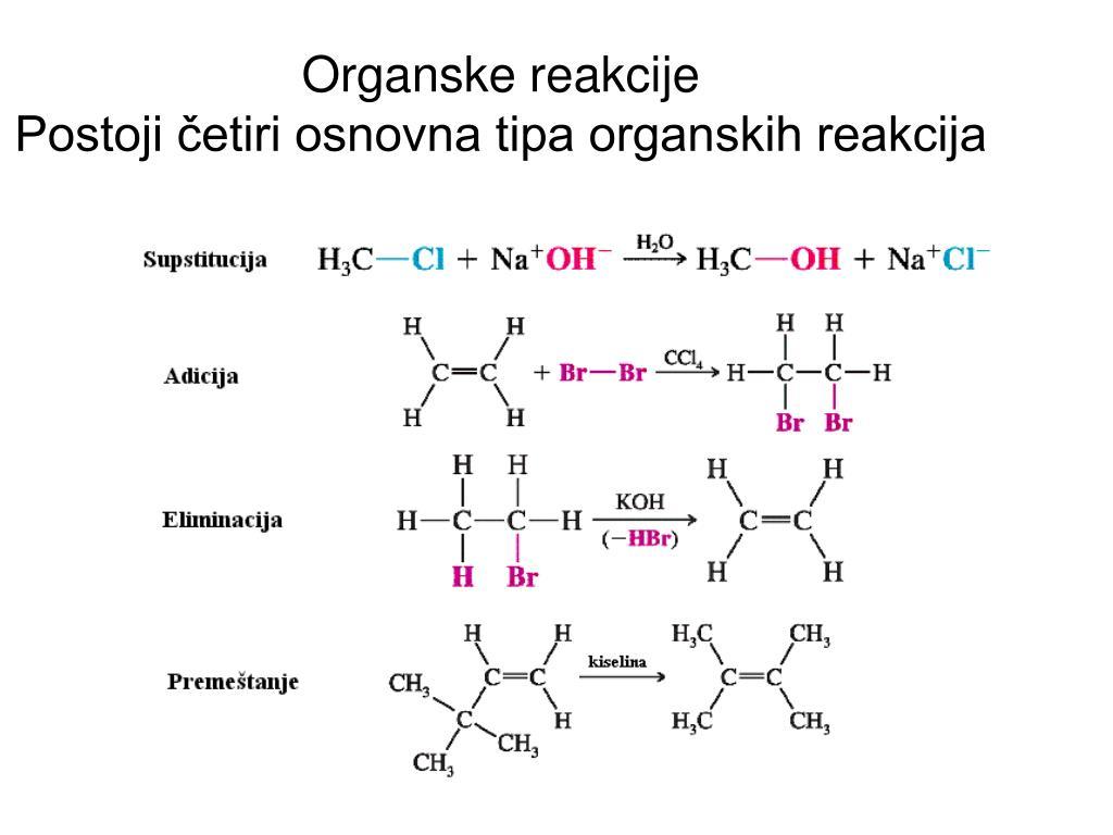 Organske reakcije