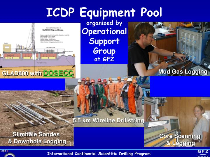 ICDP Equipment Pool