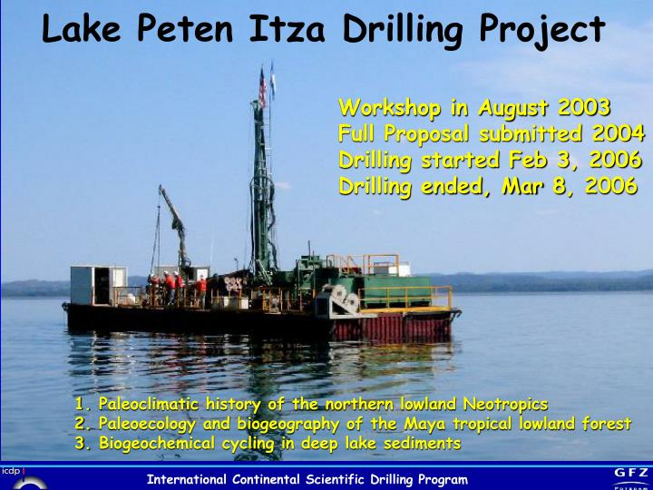 Lake Peten Itza Drilling Project