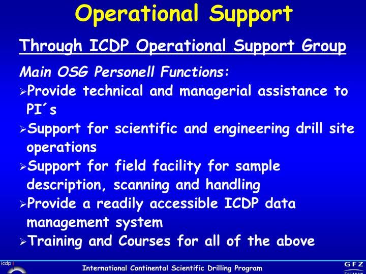 Operational Support