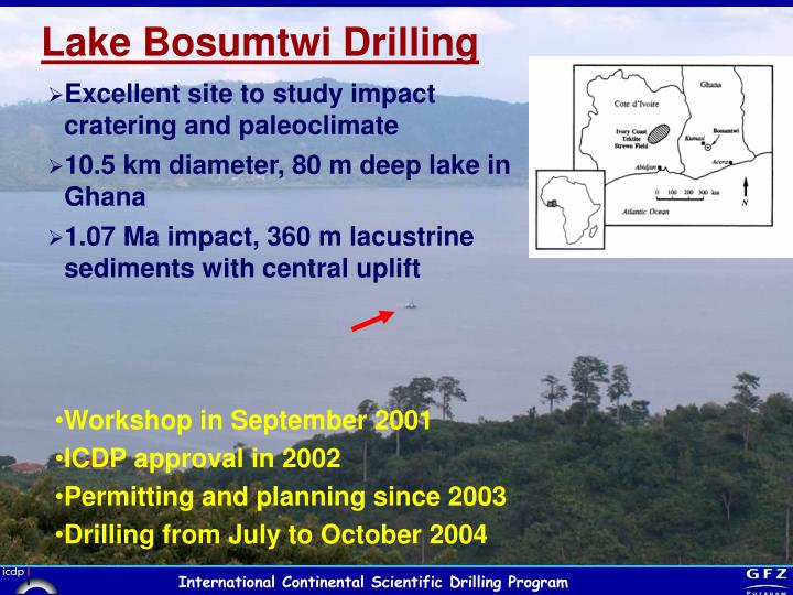 Lake Bosumtwi Drilling