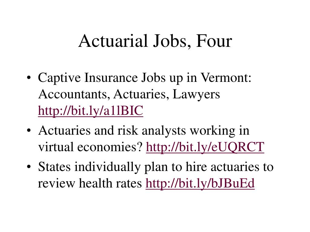 Actuarial Jobs, Four