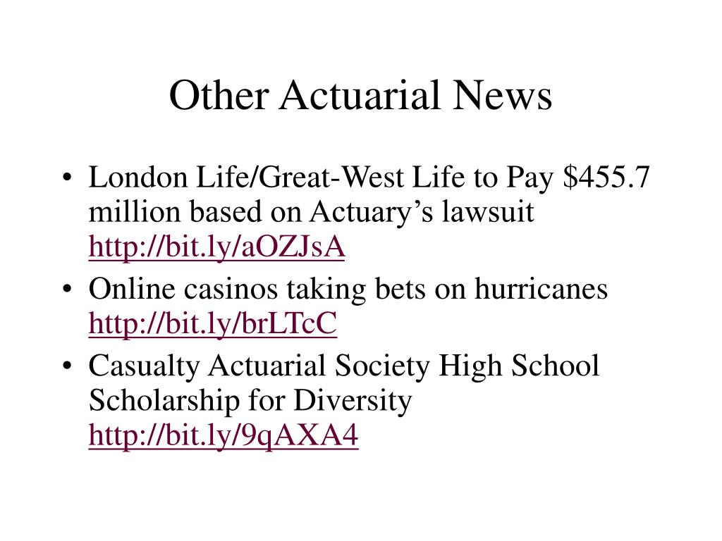Other Actuarial News