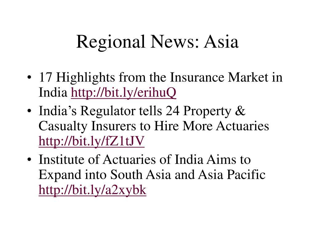 Regional News: Asia