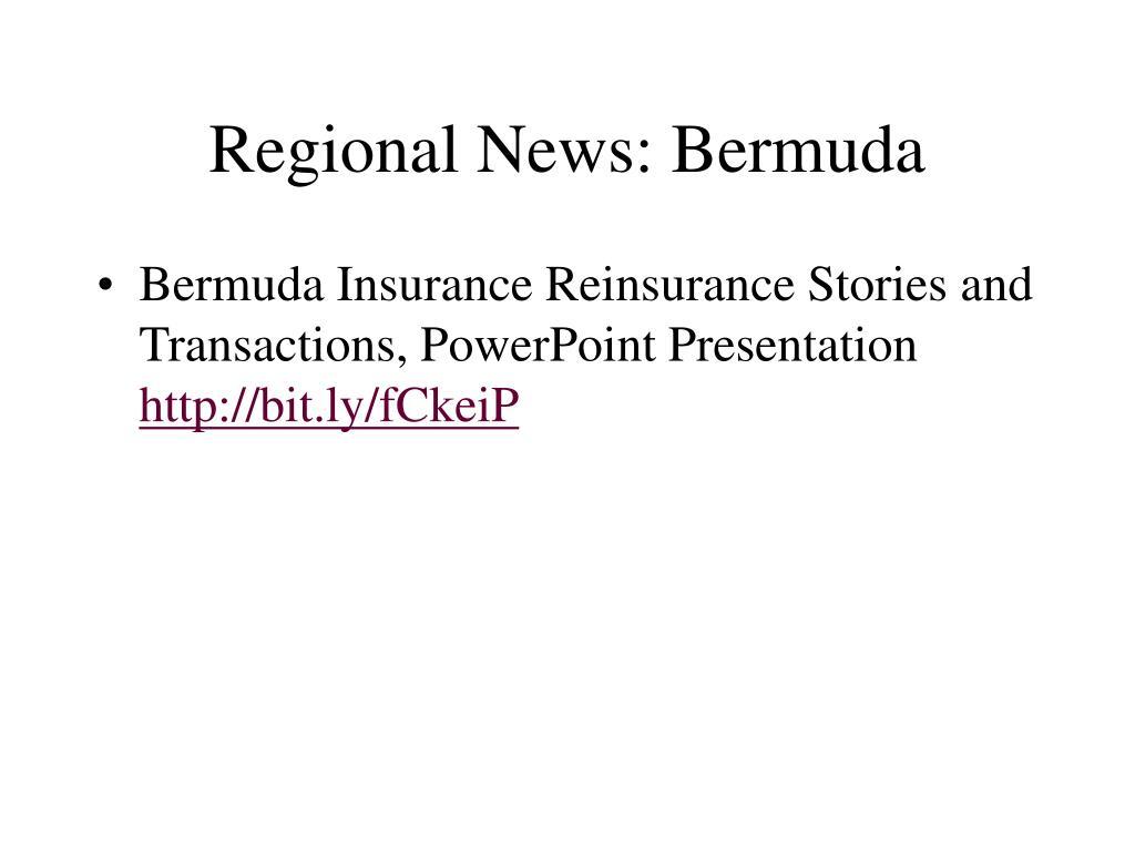 Regional News: Bermuda