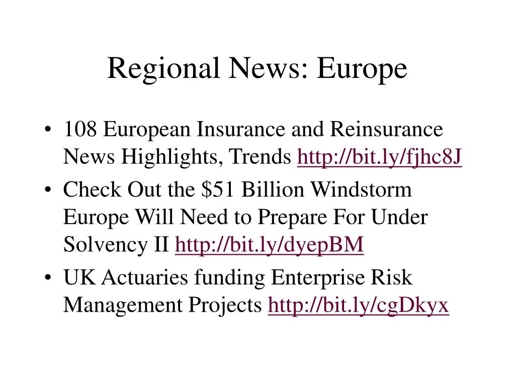 Regional News: Europe