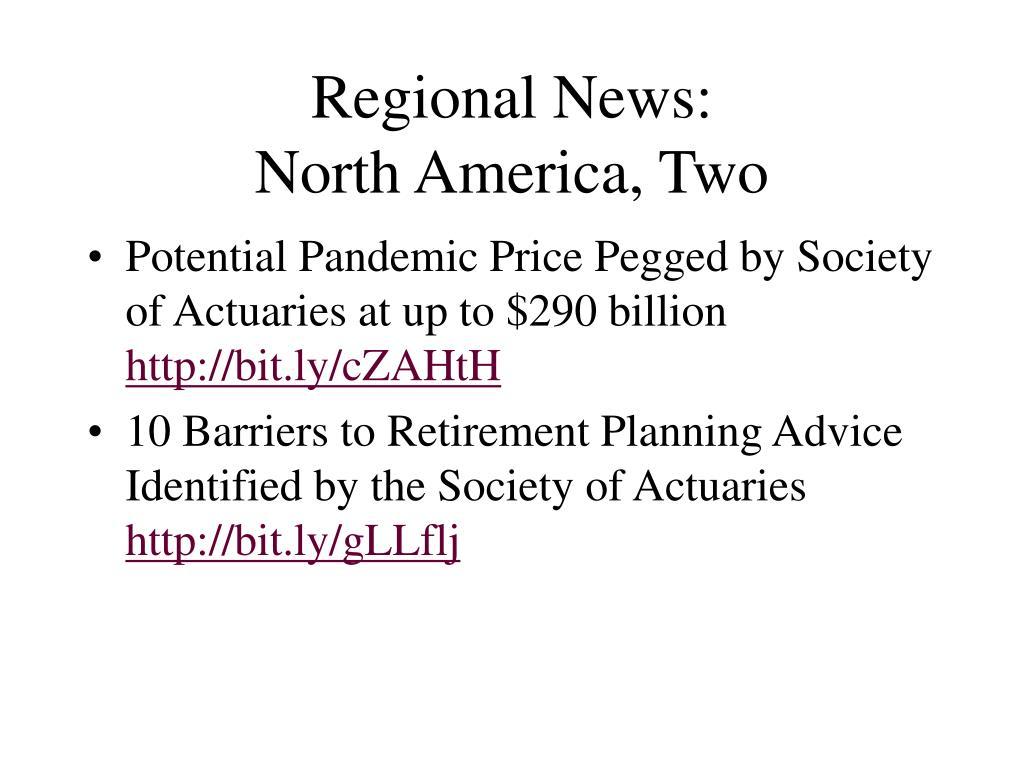 Regional News: