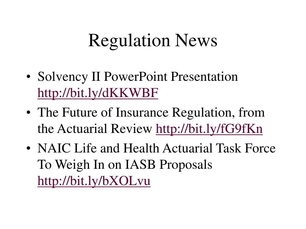 Regulation News