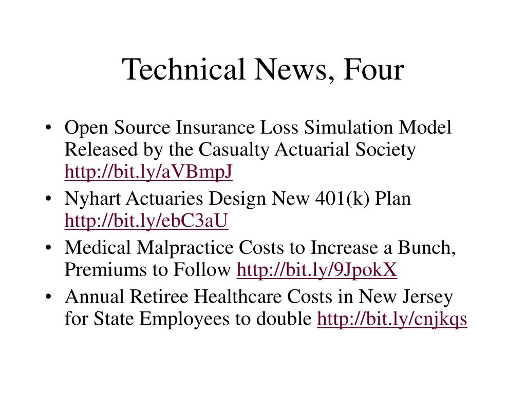 Technical News, Four