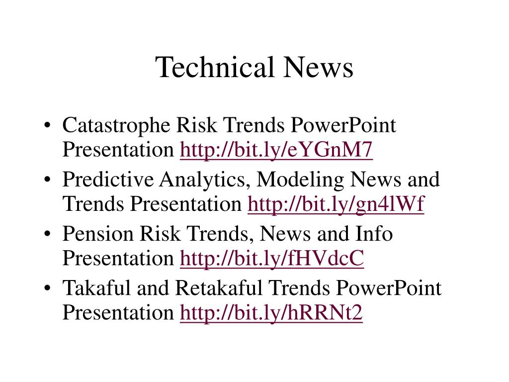 Technical News