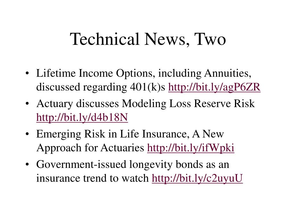 Technical News, Two