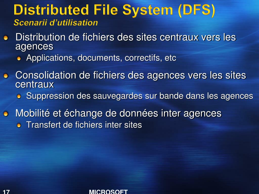Distributed File System (DFS)