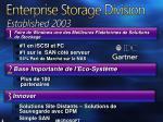 enterprise storage division established 2003