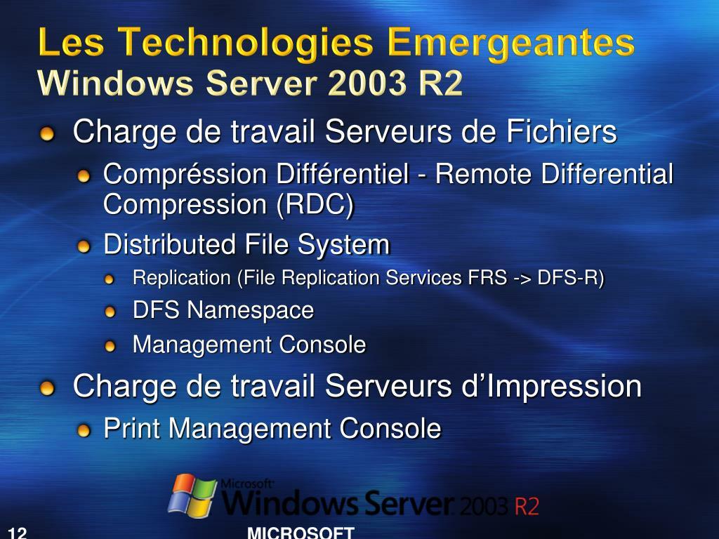 Les Technologies Emergeantes