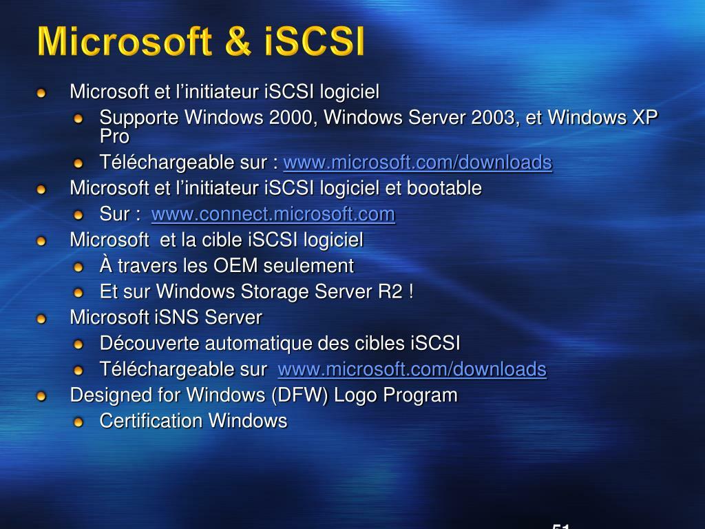 Microsoft & iSCSI