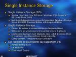 single instance storage