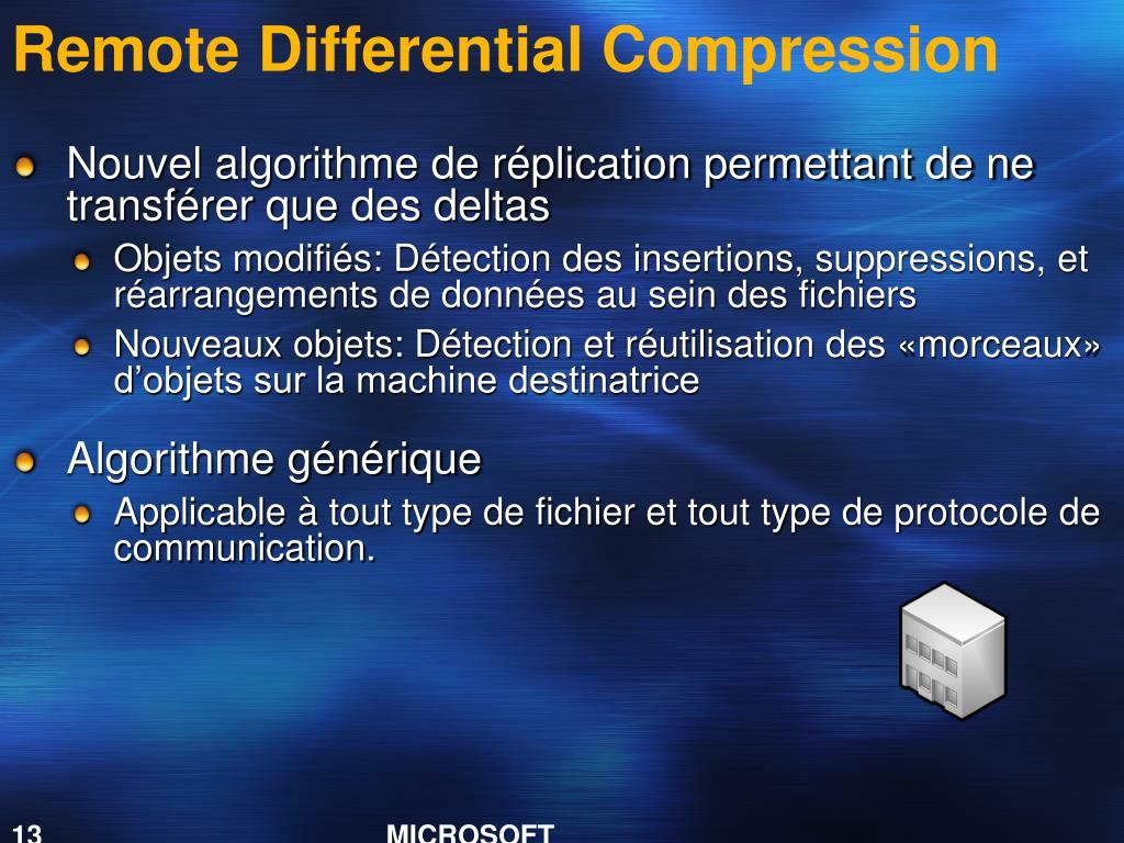 Remote Differential Compression