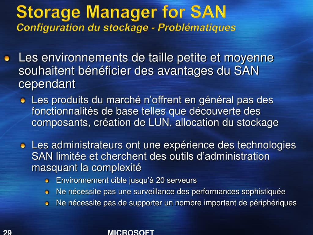 Storage Manager for SAN