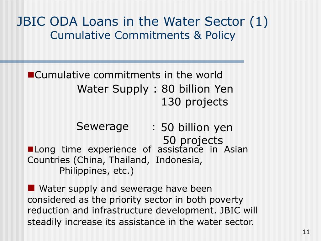 JBIC ODA Loans in the Water Sector (1)