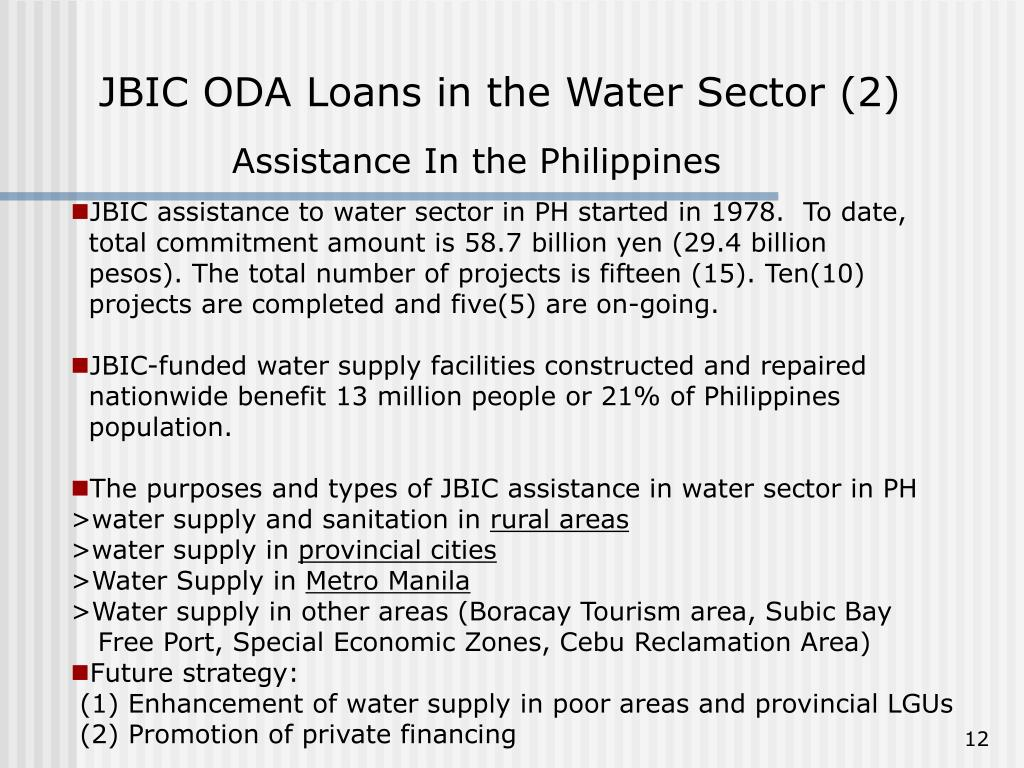 JBIC ODA Loans in the Water Sector (2)