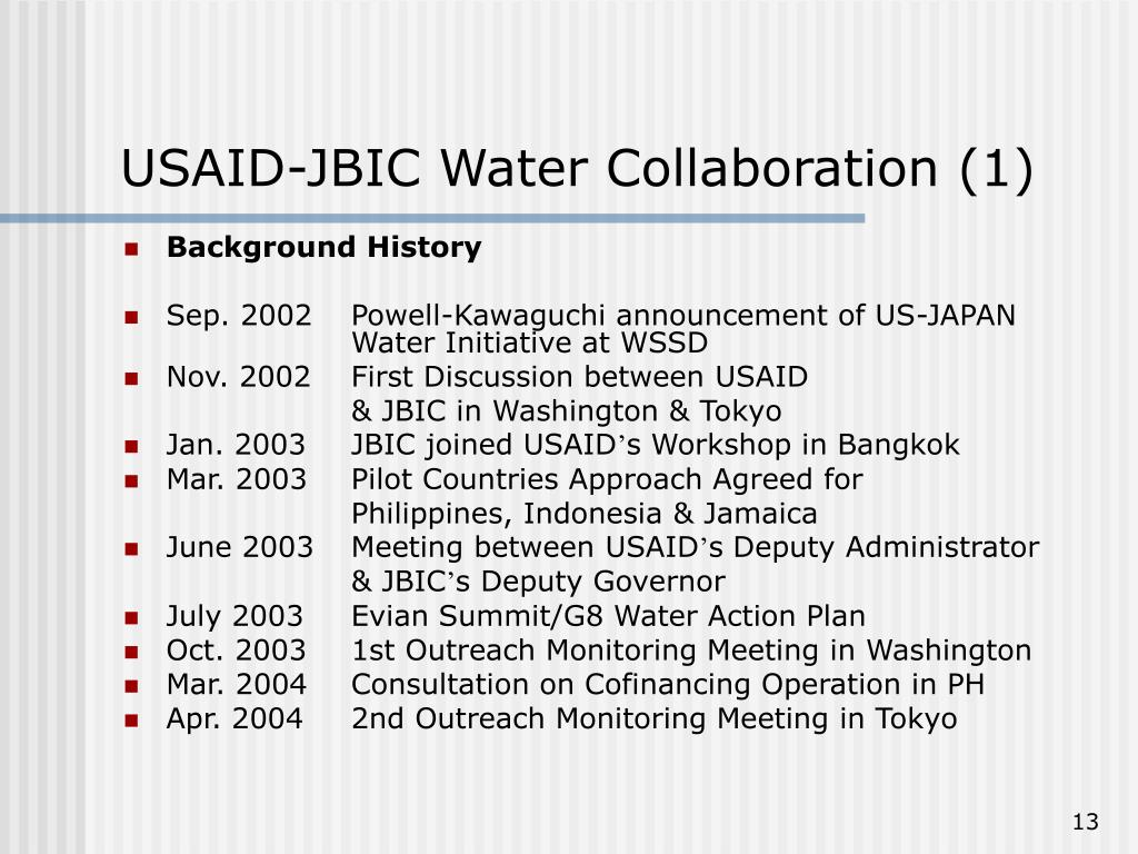 USAID-JBIC Water Collaboration (1)