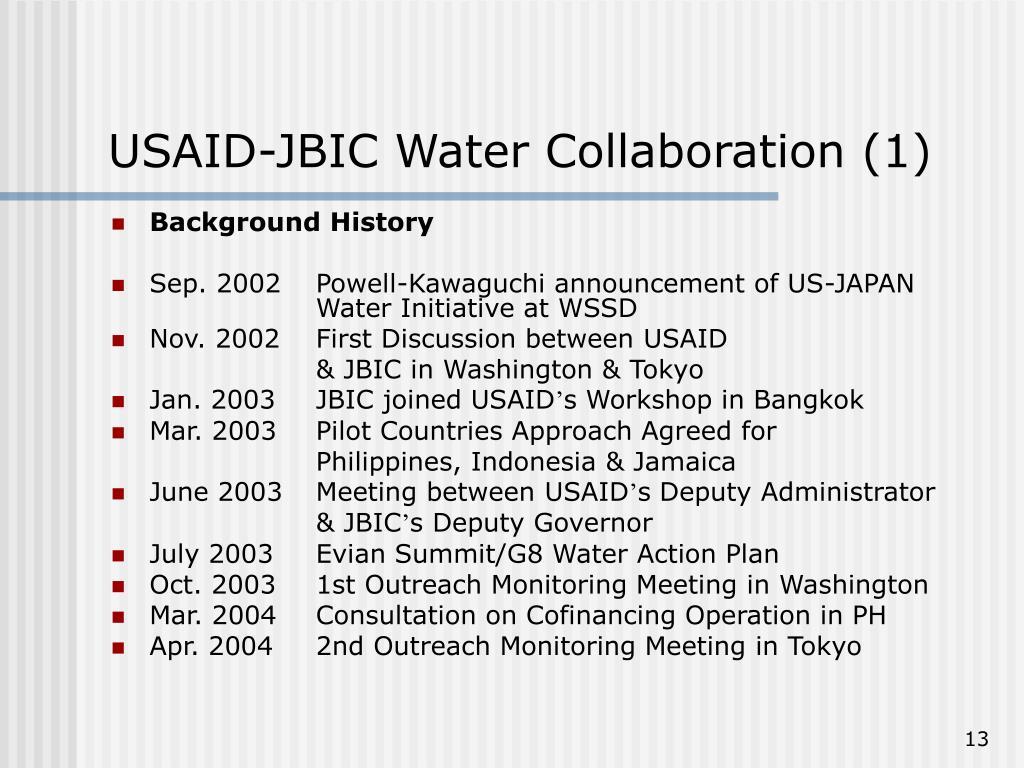 USAID-JBIC Water Collaboration (1)