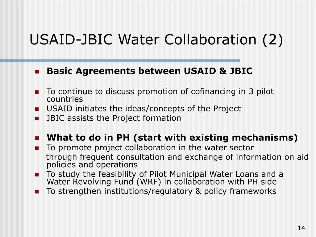 USAID-JBIC Water Collaboration (2)