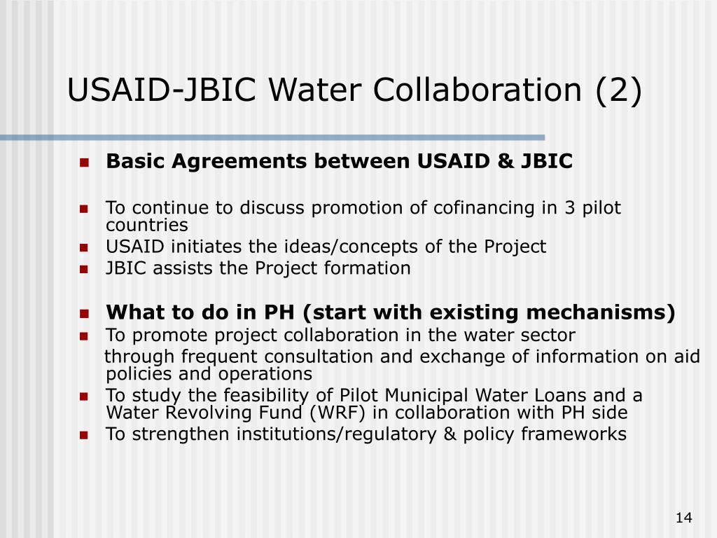 USAID-JBIC Water Collaboration (2)