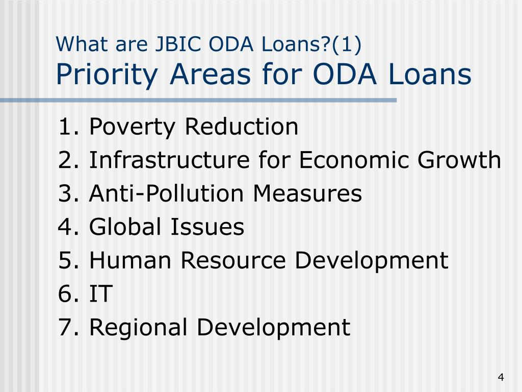 What are JBIC ODA Loans?(1)