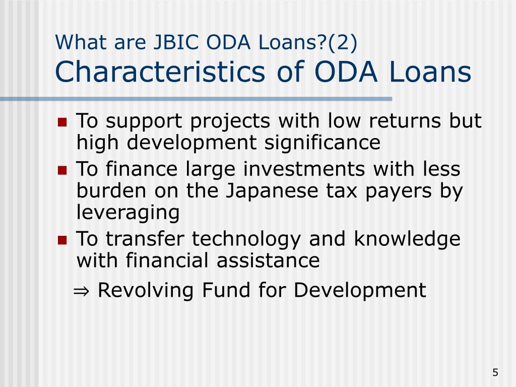 What are JBIC ODA Loans?(2)