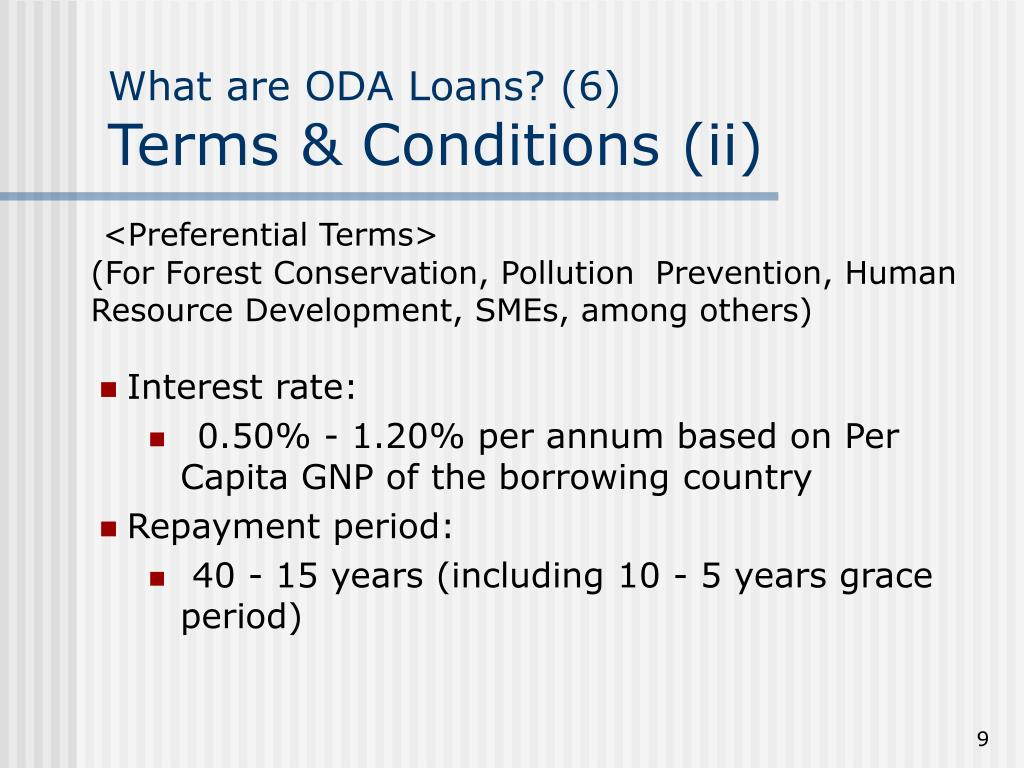 What are ODA Loans? (6)