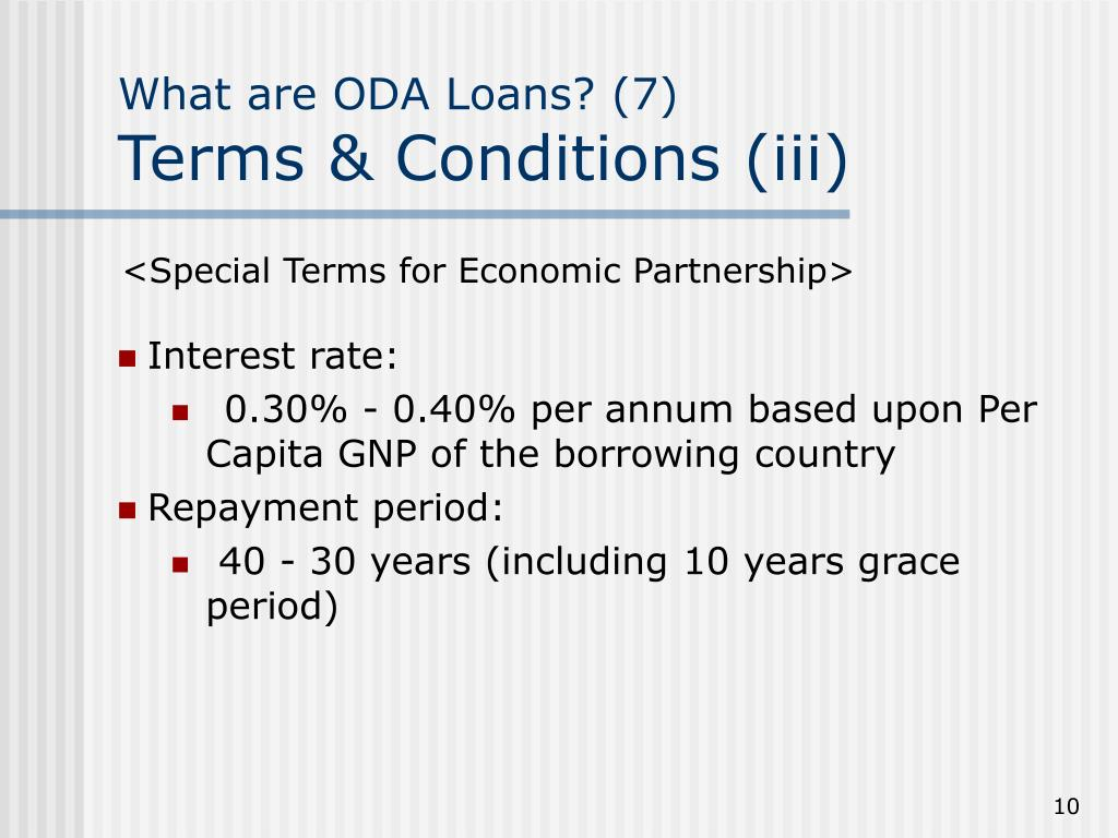 What are ODA Loans? (7)