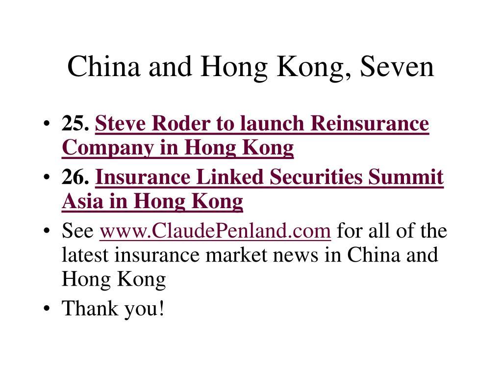 China and Hong Kong, Seven