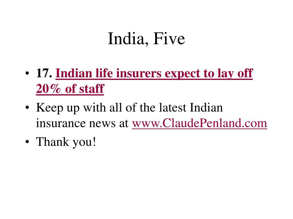 India, Five
