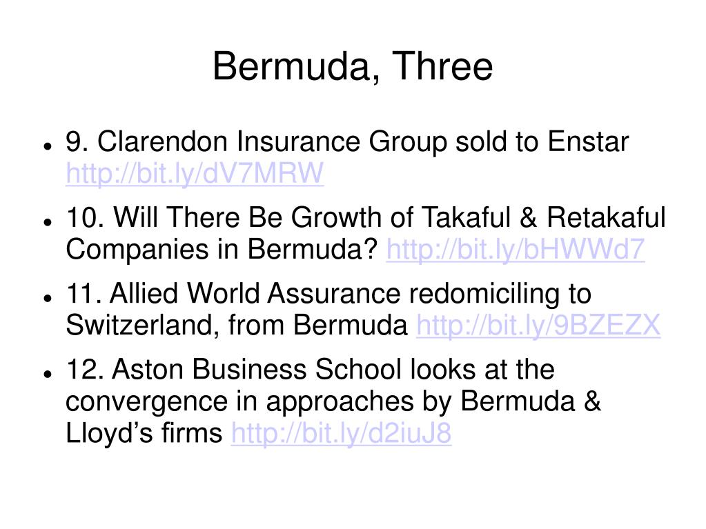 Bermuda, Three