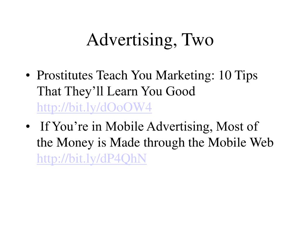 Advertising, Two