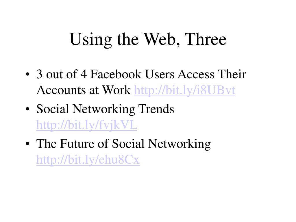 Using the Web, Three