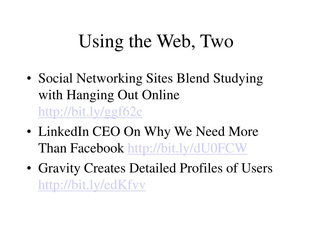 Using the Web, Two