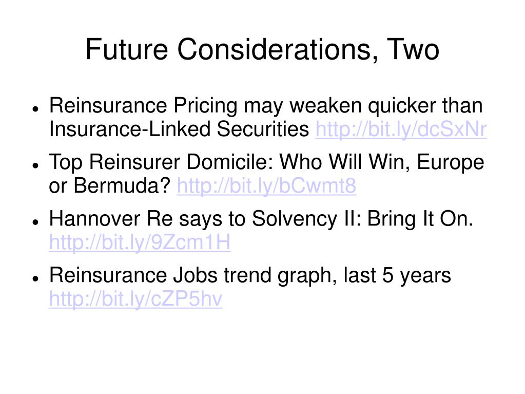 Future Considerations, Two