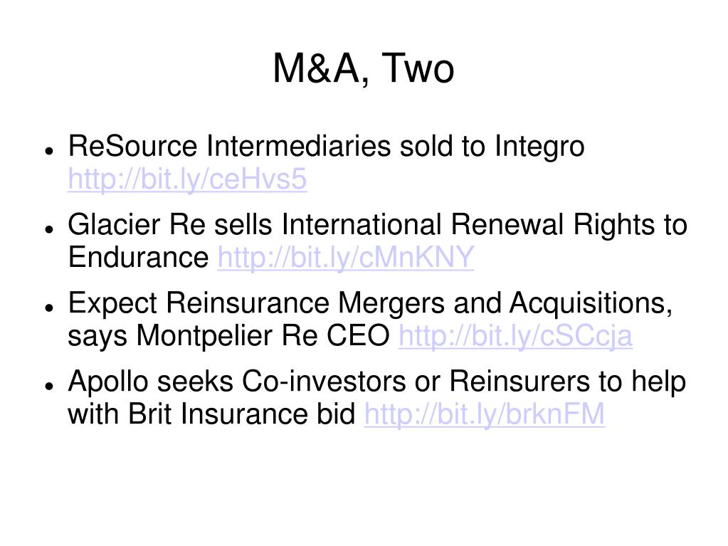 M&A, Two
