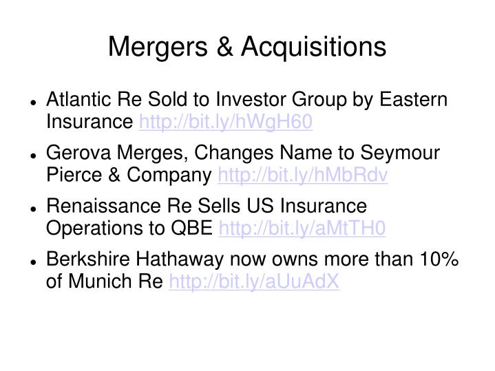 Mergers acquisitions