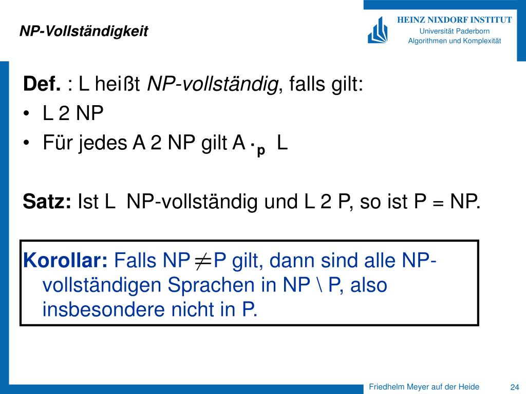NP-Vollständigkeit