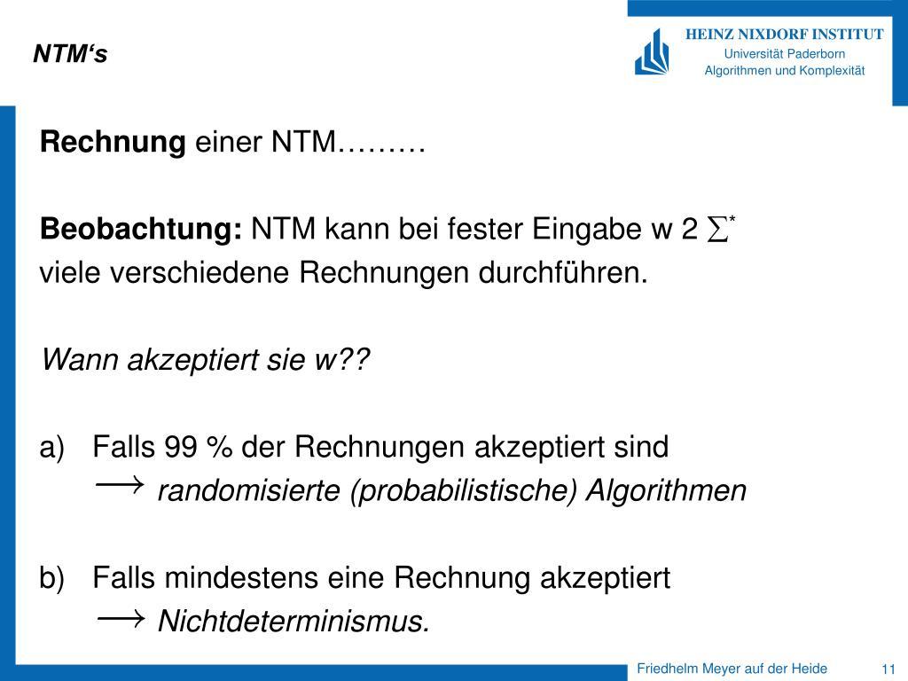 NTM's