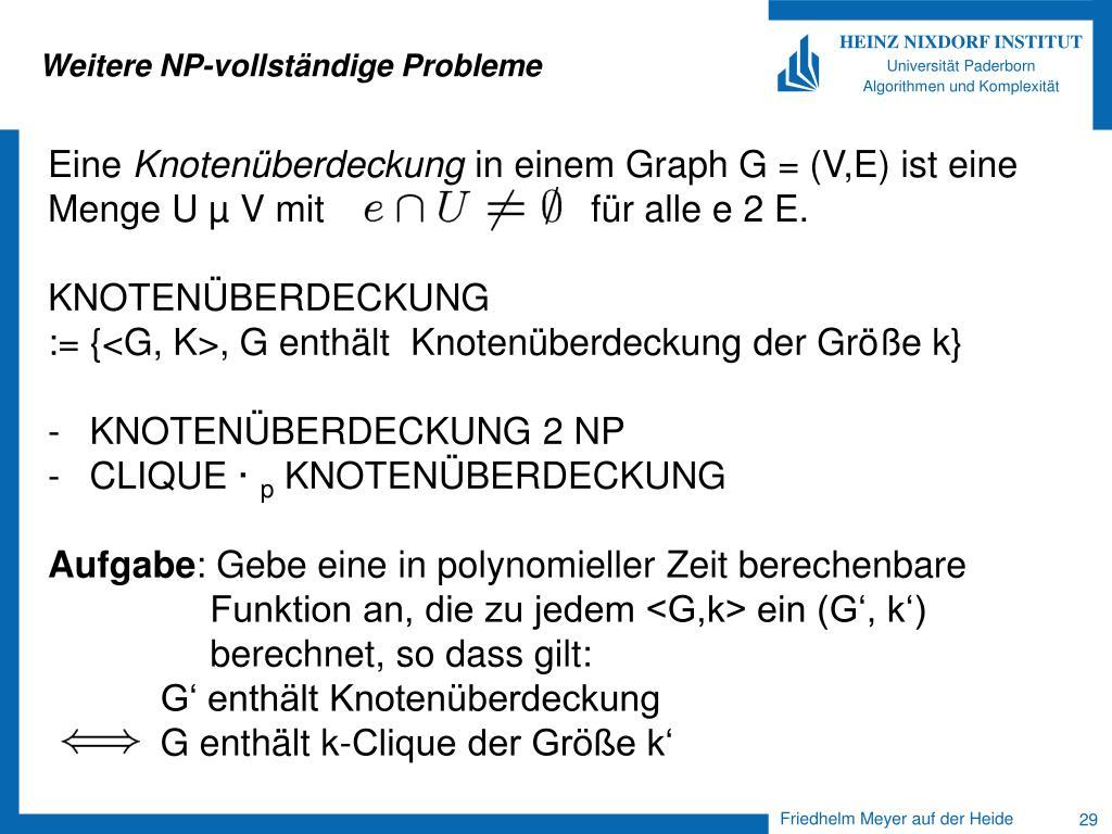 Weitere NP-vollständige Probleme