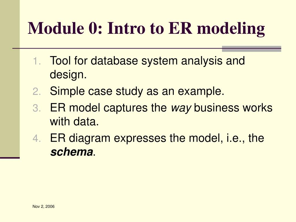 Module 0: Intro to ER modeling